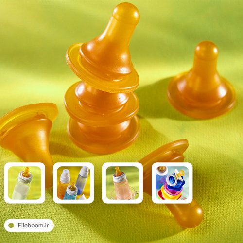 مجموعه تصاویر باکیفیت شیشه شیر و پستانک نوزاد