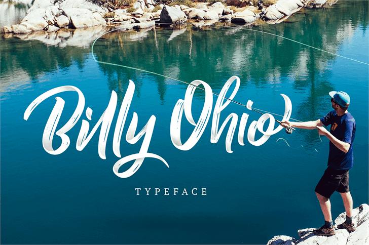 فونت زیبا و خلاقانه لاتین به نام Billy Ohio