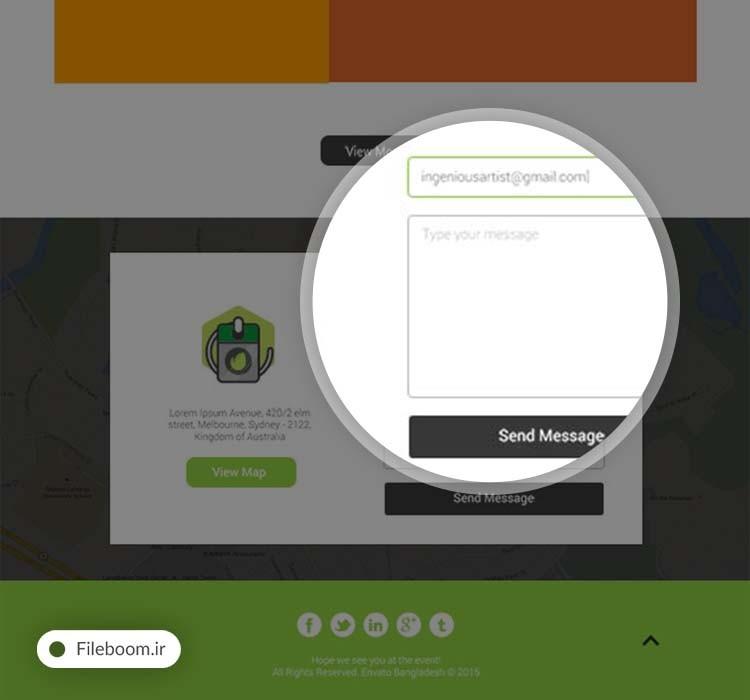 لایه باز قالب وب سایت رویداد و همایش ها