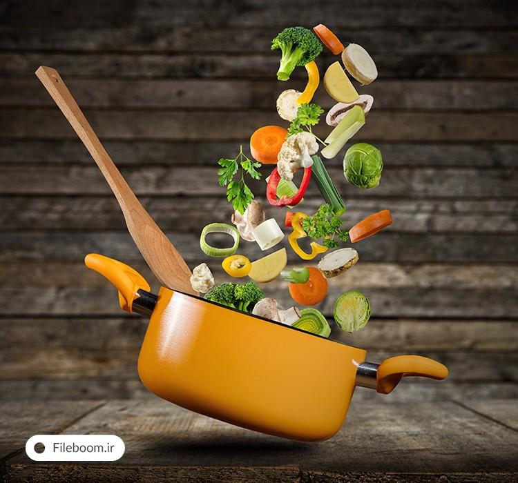 مجموعه تصاویر باکیفیت با موضوع غذا و سبزیجات