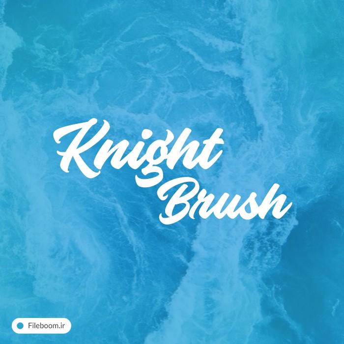 دانلود فونت لاتین زیبای شکسته به نام knight brush