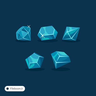 وکتور الماس و جواهرات آبی