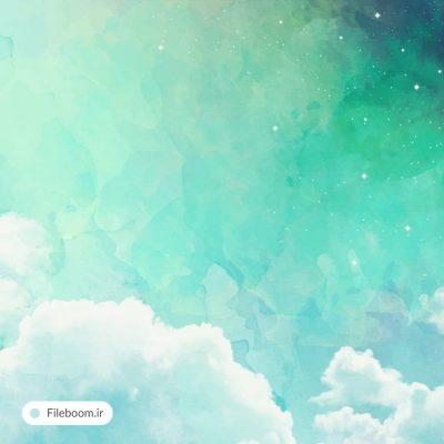 وکتور پس زمینه آسمان آبی و ابری