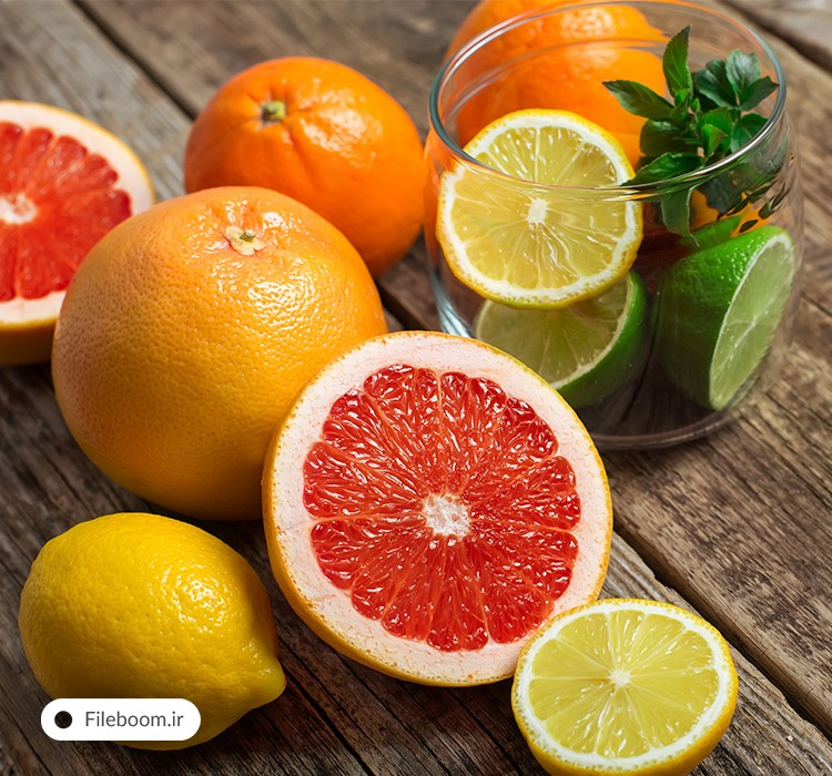 مجموعه تصاویر با کیفیت پرتقال و لیمو