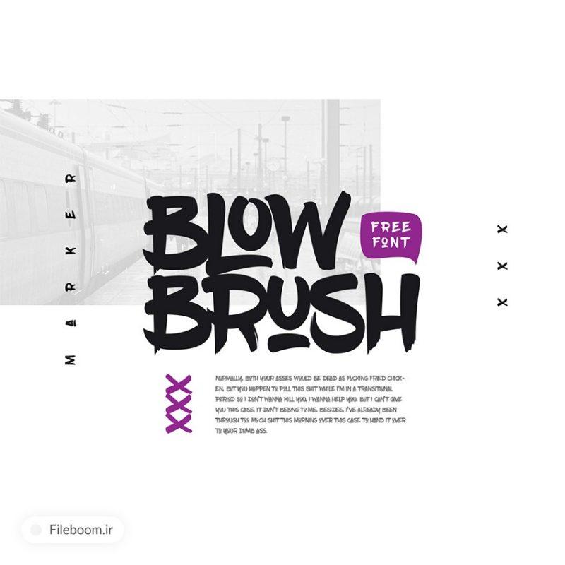 دانلود فونت خلاقانه لاتین به نام blowbrush