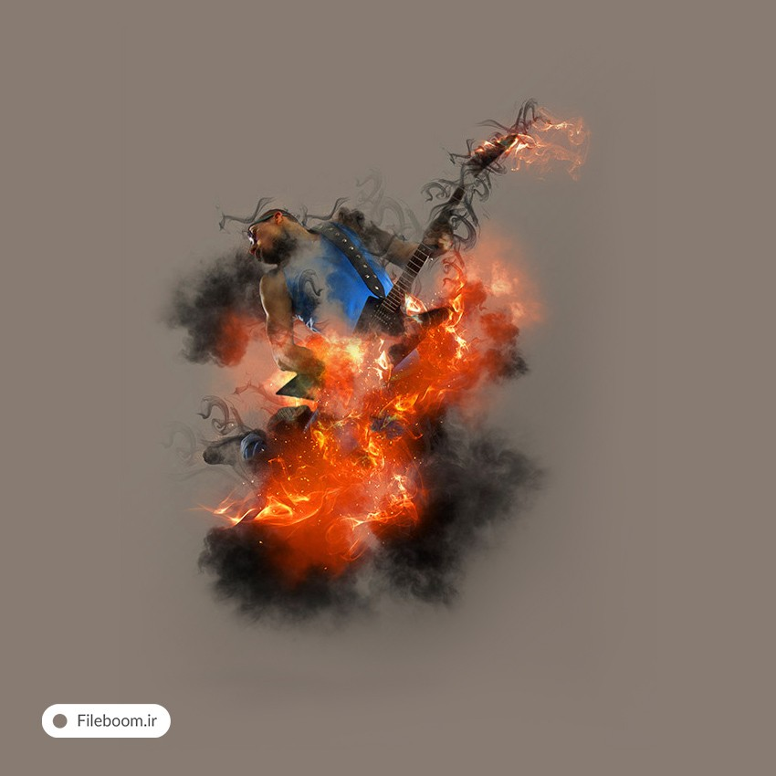اکشن زیبای خلق تصاویر آتشین به همراه دود