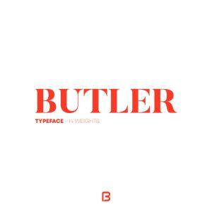 فونت لاتین زیبای Butler