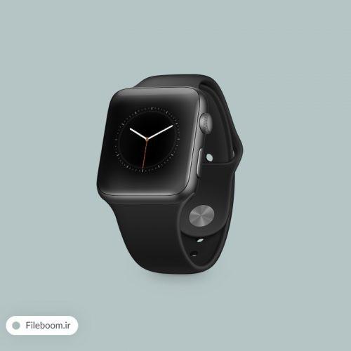 موک آپ زیبای ساعت شرکت اپل یا به اصطلاح اپل واچ