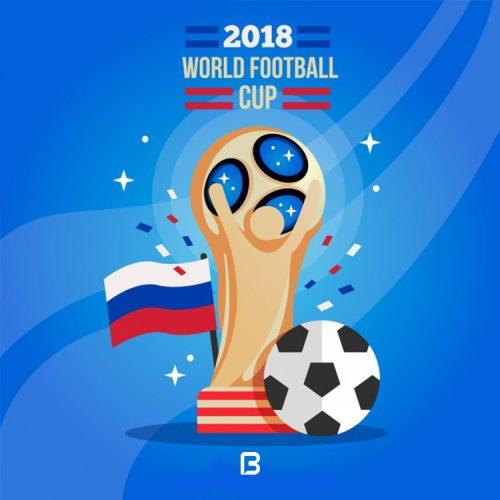 وکتور زیبا با موضوع جام جهانی ۲۰۱۸ روسیه