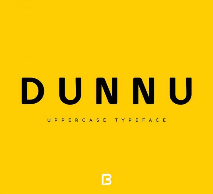 DUNNU 700x636 - دانلود فونت لاتین Dunnu برای طراحی های مینیمال