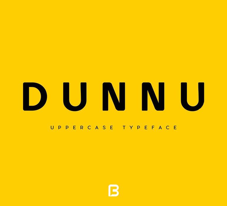 فونت لاتین Dunnu برای طراحی های مینیمال