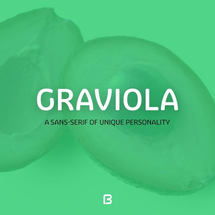 فونت انگلیسی و بسیار زیبای Graviola