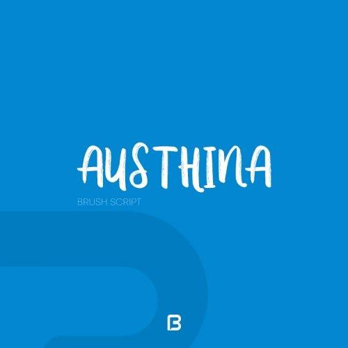 فونت لاتین زیبا به نام austhina