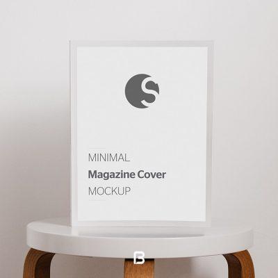 موک آپ پوستر بر روی میز به صورت مینیمال