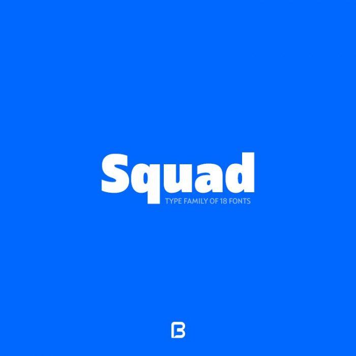 فونت لاتین فوق العاده به نام squad