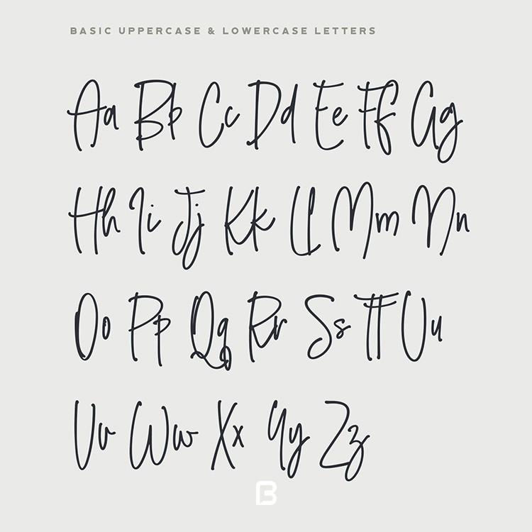 فونت دست نوشته انگلیسی به نام smooth stone