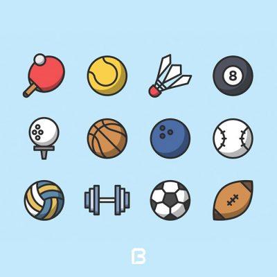 مجموعه آیکون نماد های ورزشی