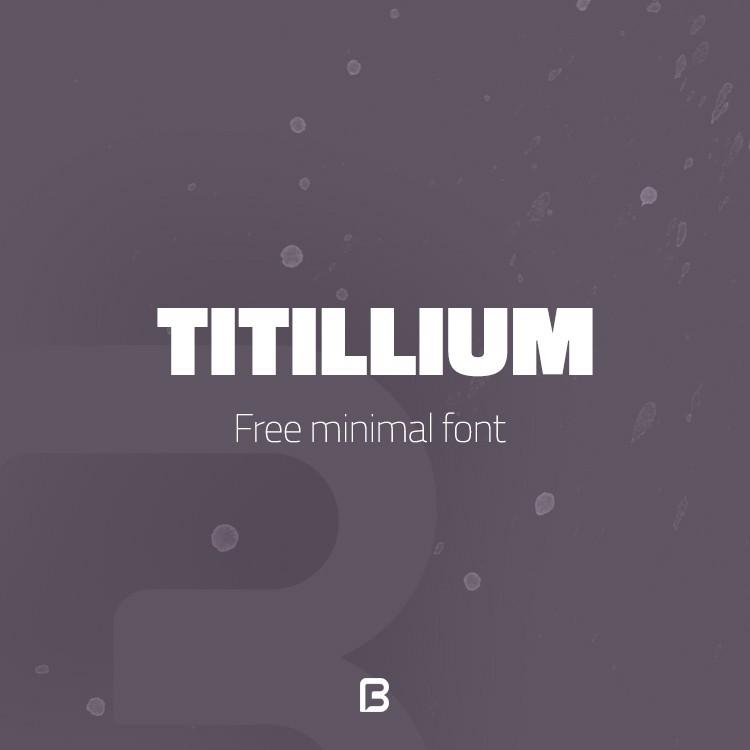 دانلود فونت مینیمال انگلیسی به نام Titillium