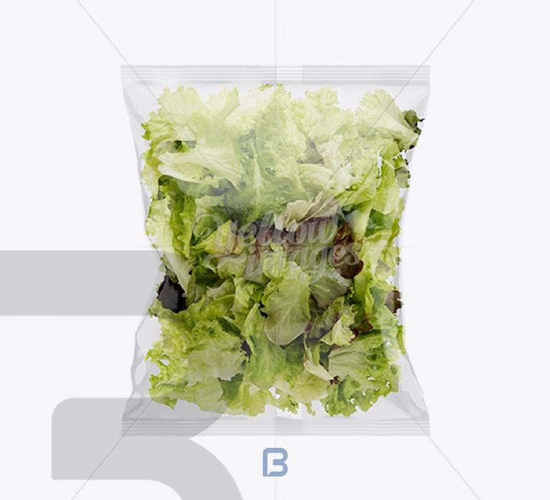 موک آپ بسته بندی شفاف پلاستیکی از سایت یلوایمیج