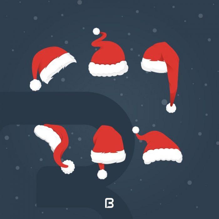 وکتور کلاه کریسمس