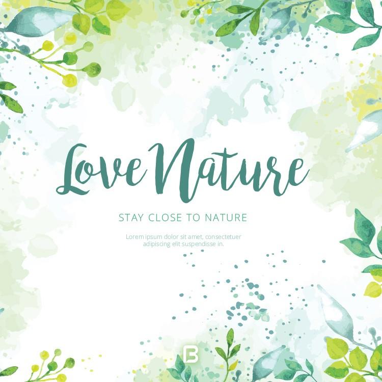 وکتور پس زمینه با موضوع طبیعت