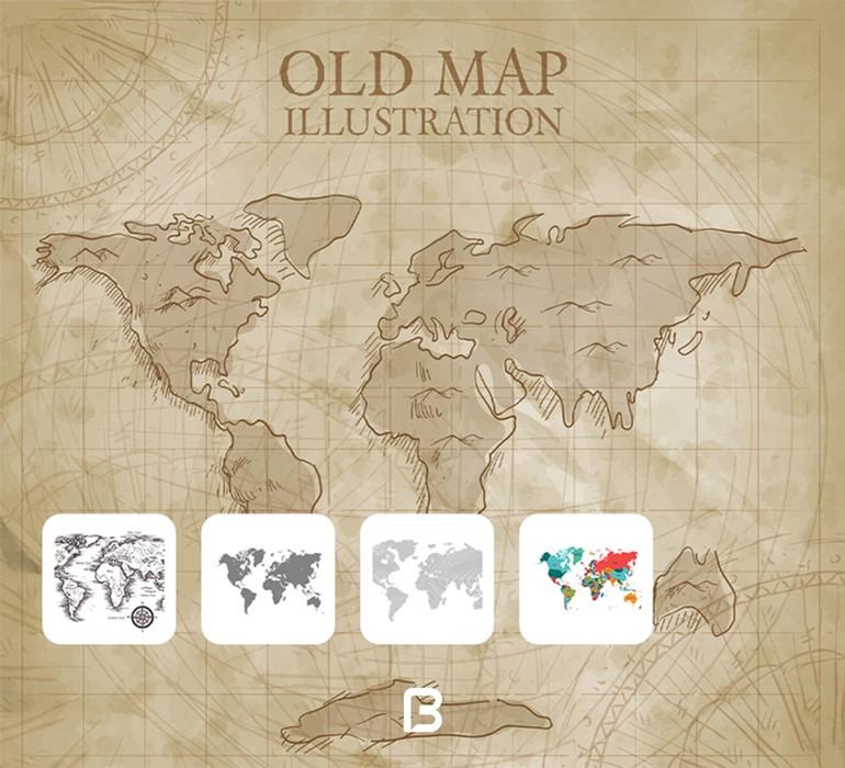 مجموعه وکتور نقشه جهان