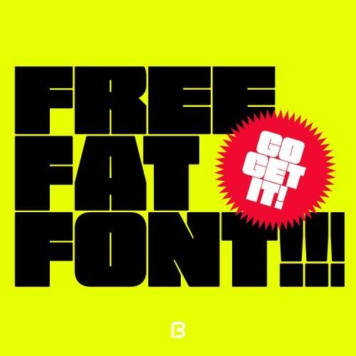 فونت انگلیسی بولد Free fat font