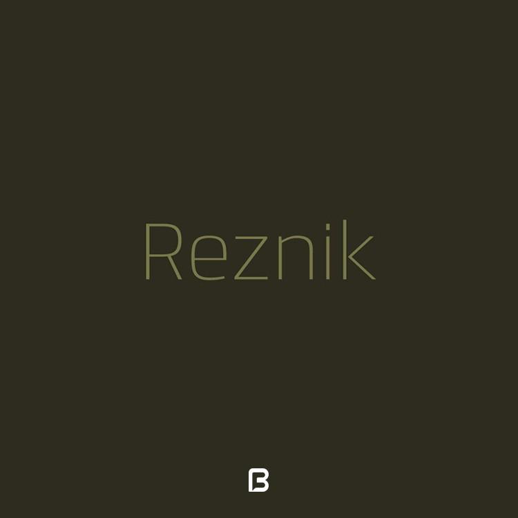 فونت انگلیسی Reznik