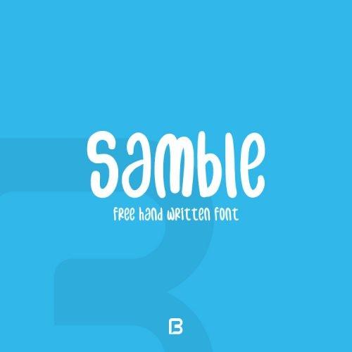 فونت انگلیسی دست نویس Samble