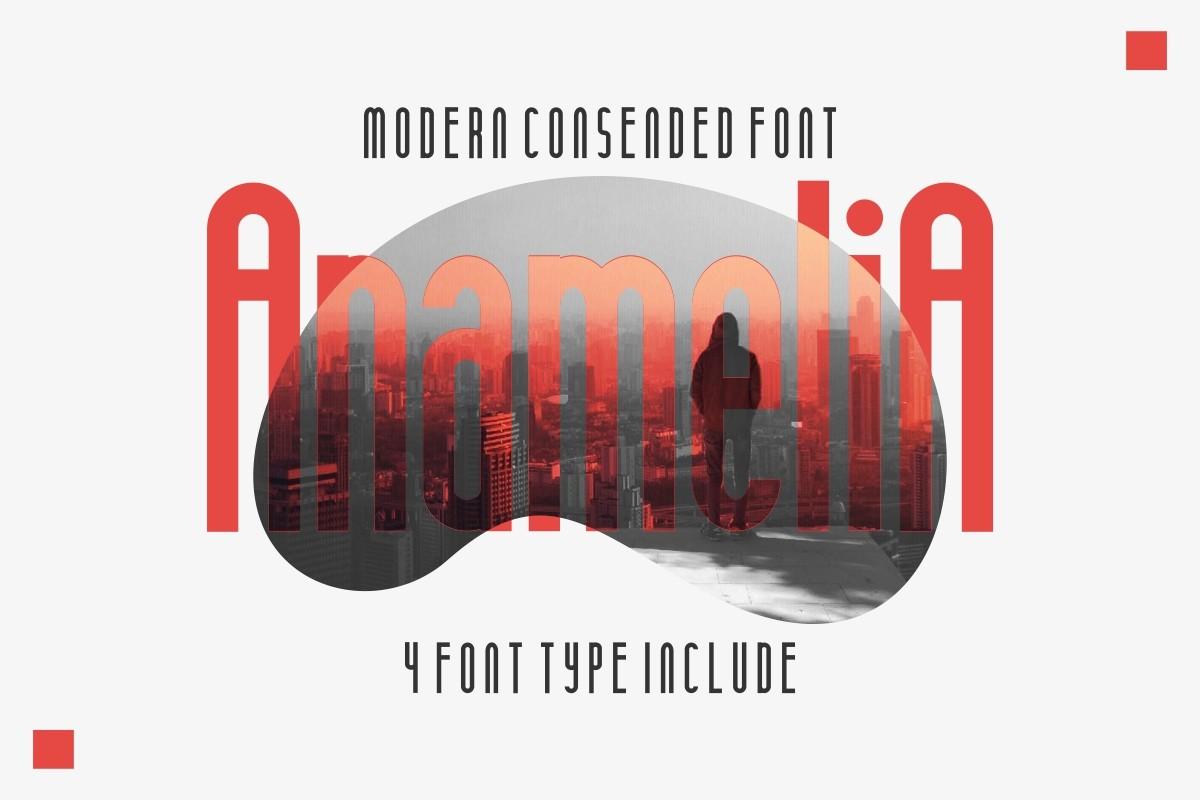 دانلود فونت انگلیسی گرافیکی Anamelia