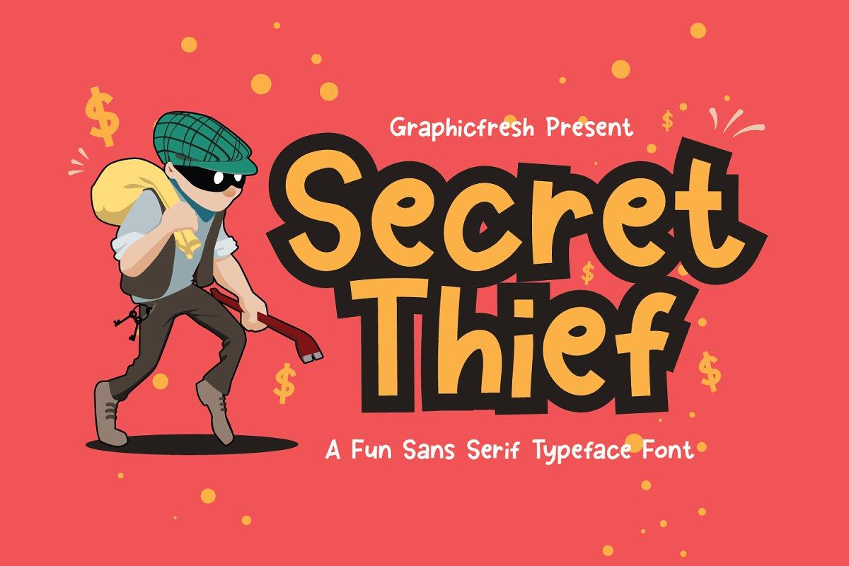 دانلود فونت انگلیسی Secret Thief