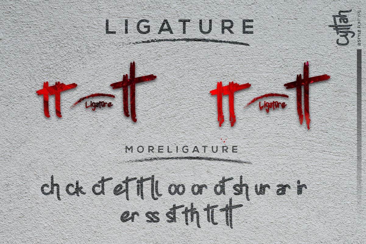 دانلود فونت ترسناک انگلیسی Cyttah Graffiti