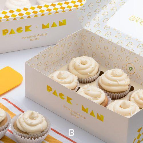 موکاپ جعبه شیرینی لایه باز
