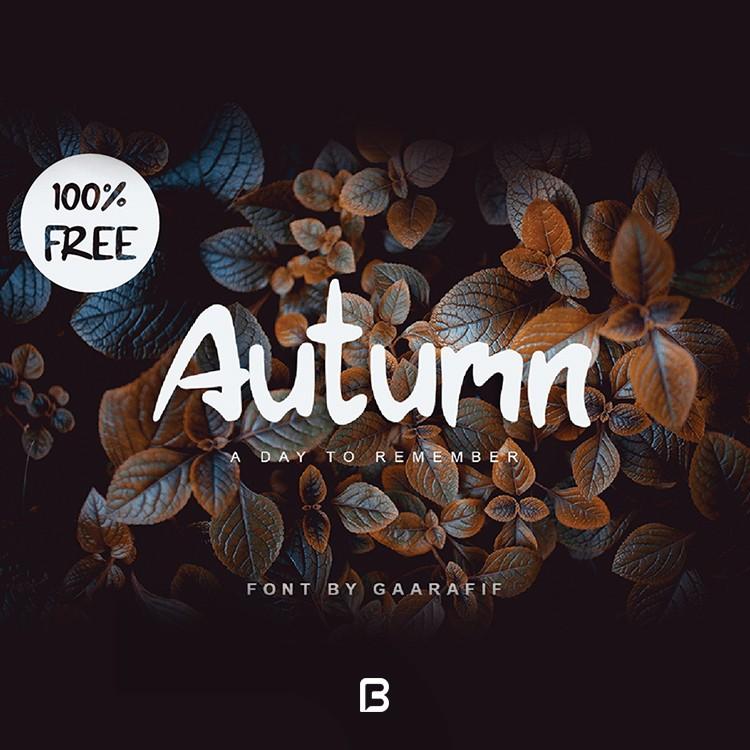 فونت انگلیسی دست نویس Autumn