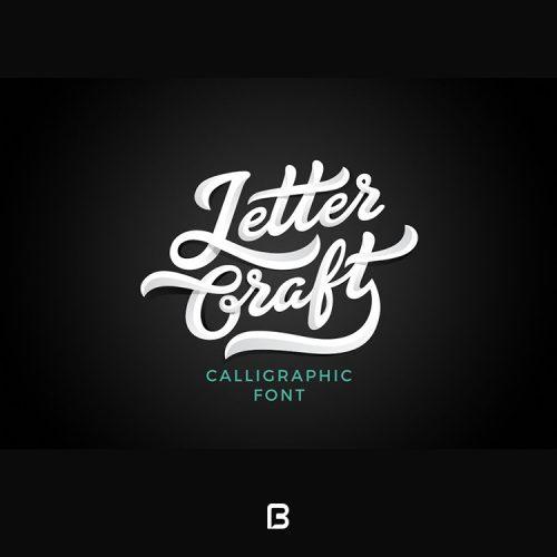 فونت انگلیسی فانتزی Letter Craft