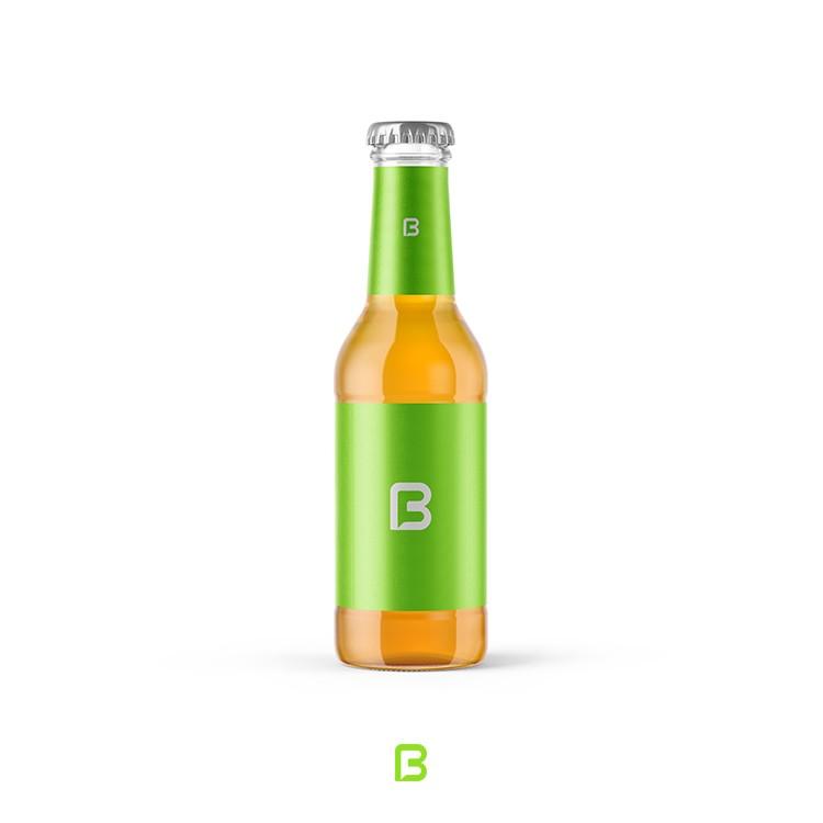 موکاپ بطری شیشه ای نوشابه