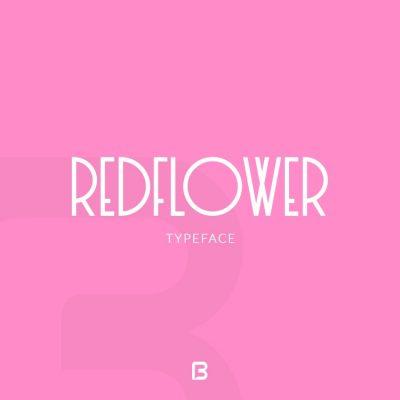 فونت مینیمال خاص انگلیسی RedFlower