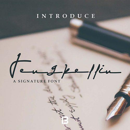 فونت انگلیسی دست نوشته Jengkellin