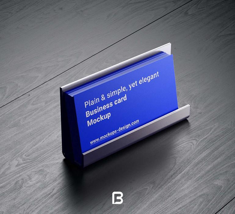 موکاپ کارت ویزیت لایه باز در حالات مختلف