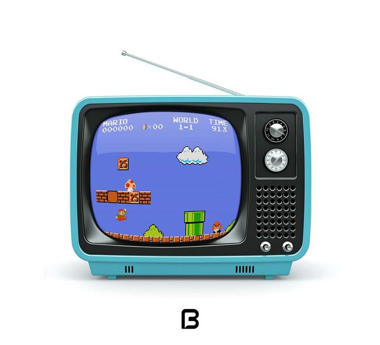 موکاپ تلویزیون قدیمی
