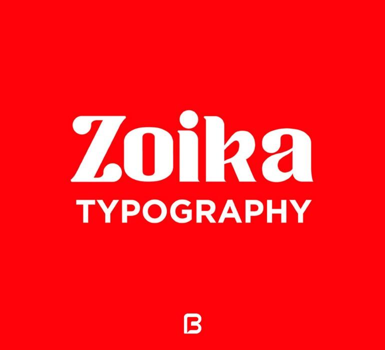فونت انگلیسی Zoika