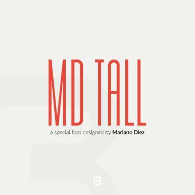 فونت انگلیسی مخصوص عنوان MD Tall