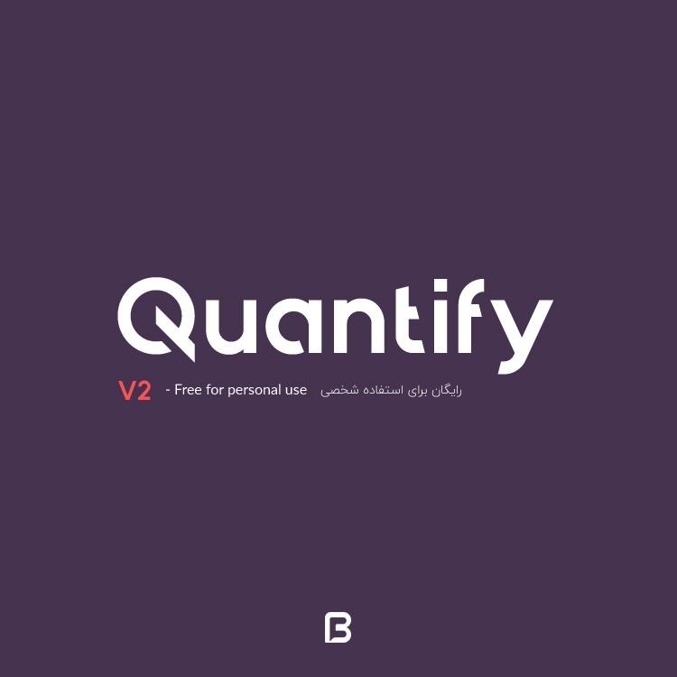 فونت انگلیسی Quantify نسخه دو