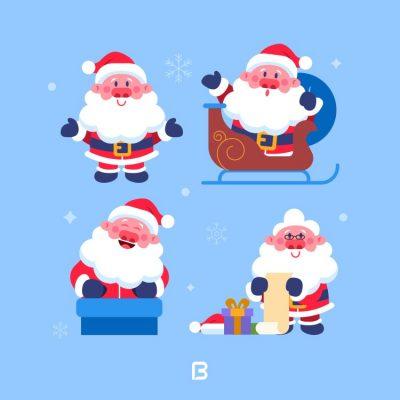 طرح وکتور بابانوئل و کریسمس