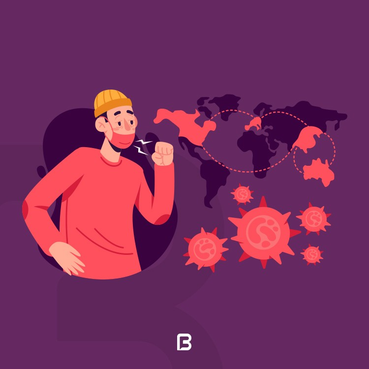 وکتور ویروس کرونا لایه باز