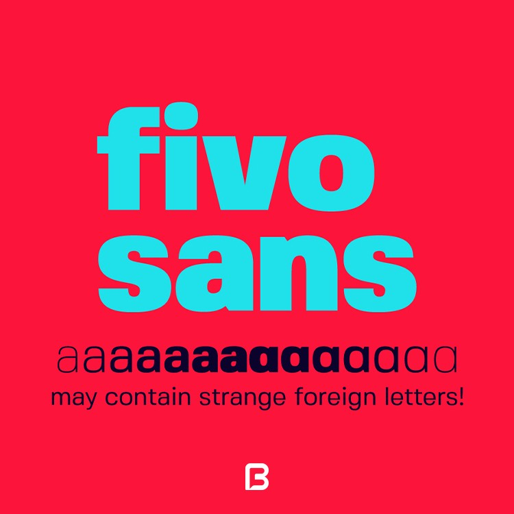 فونت انگلیسی فیوو Fivo Sans