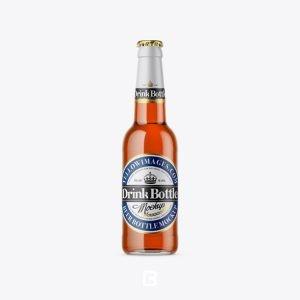 موکاپ بطری دلستر شیشه ای