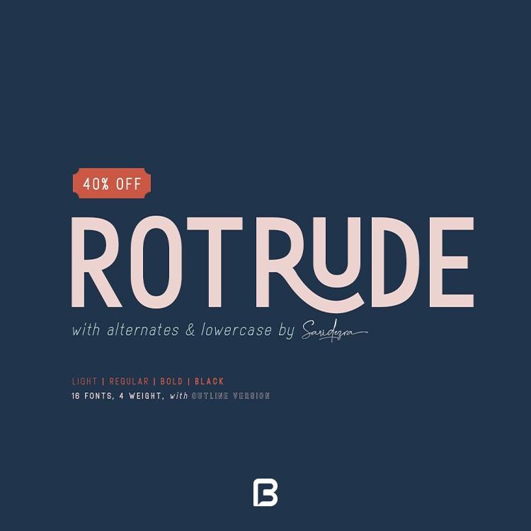 مجموعه فونت انگلیسی روترود Rotrude Sans