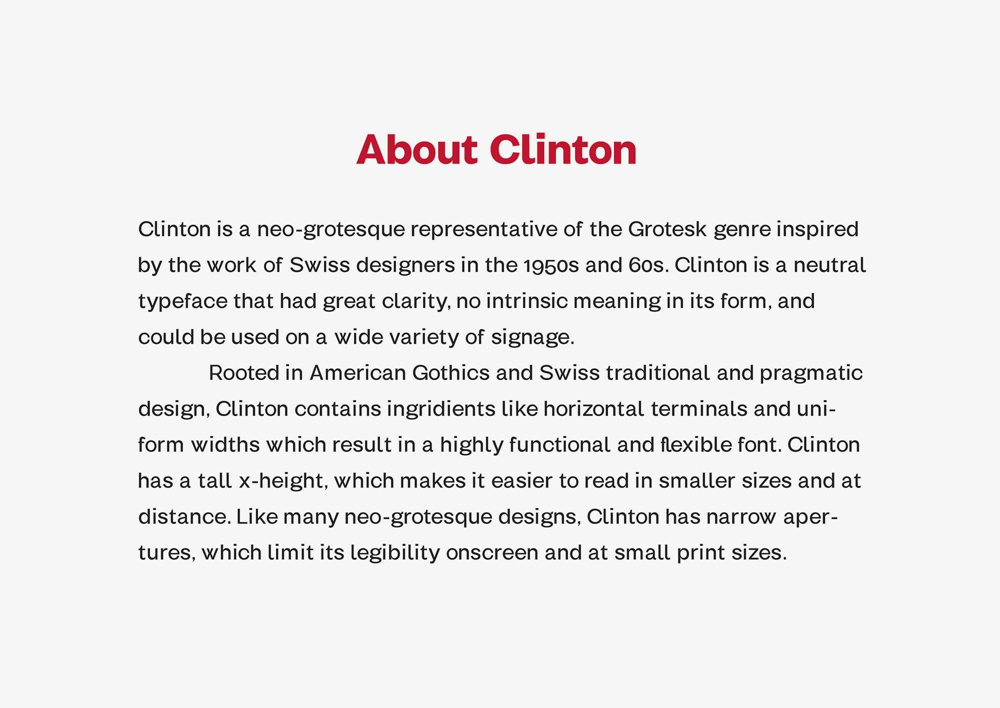 مجموعه فونت انگلیسی کلینتون Clinton Font Family