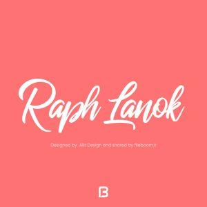 فونت شکسته انگلیسی Raph lanok